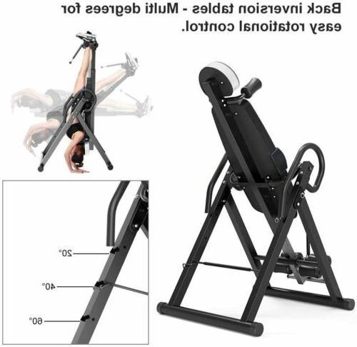 New Foldable Gravity Inversion Table Fitness Reflexology