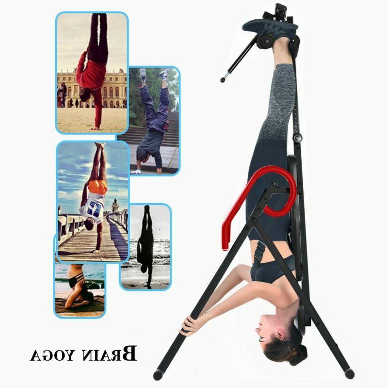 Foldable Inversion Table Heavy Duty Gravity Back Fitness Reflexology