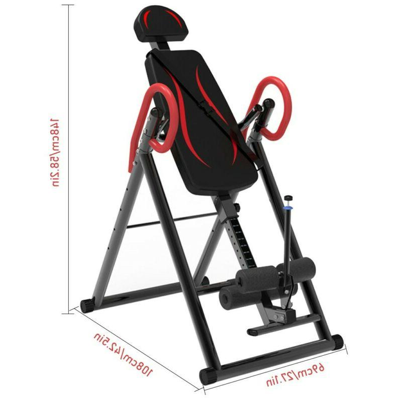 Foldable Inversion Table Heavy Duty Therapy Fitness Reflexology