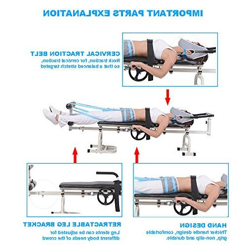 Enshey Traction Stretcher Spine Stretching Relaxation Treatment for Lumbar Cervical Herniation