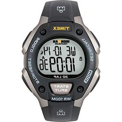 Timex Men's T5E901 Ironman Classic 30 Gray/Black Resin Strap
